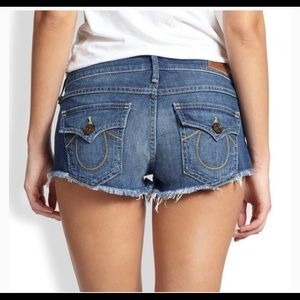 'Joey cut-off' True Religion shorts